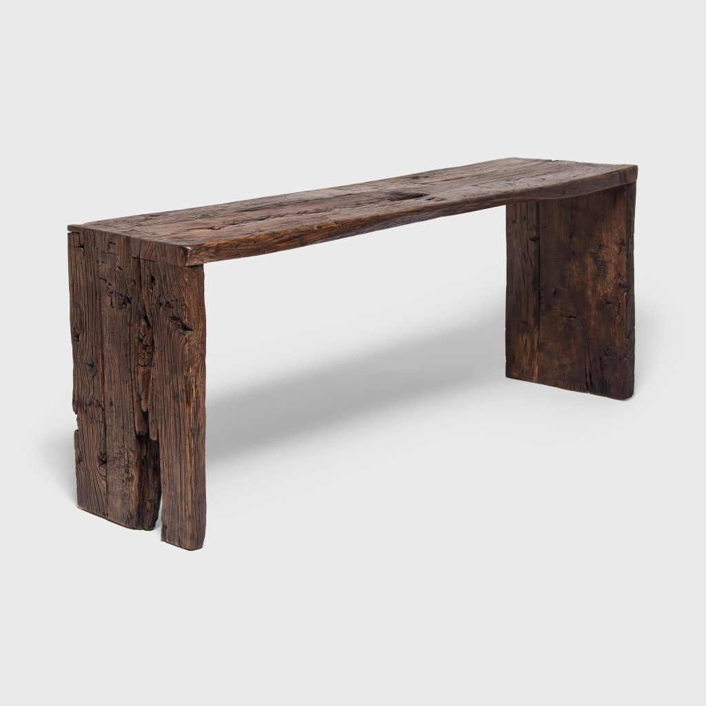 Reclaimed Elm Waterfall Console Table